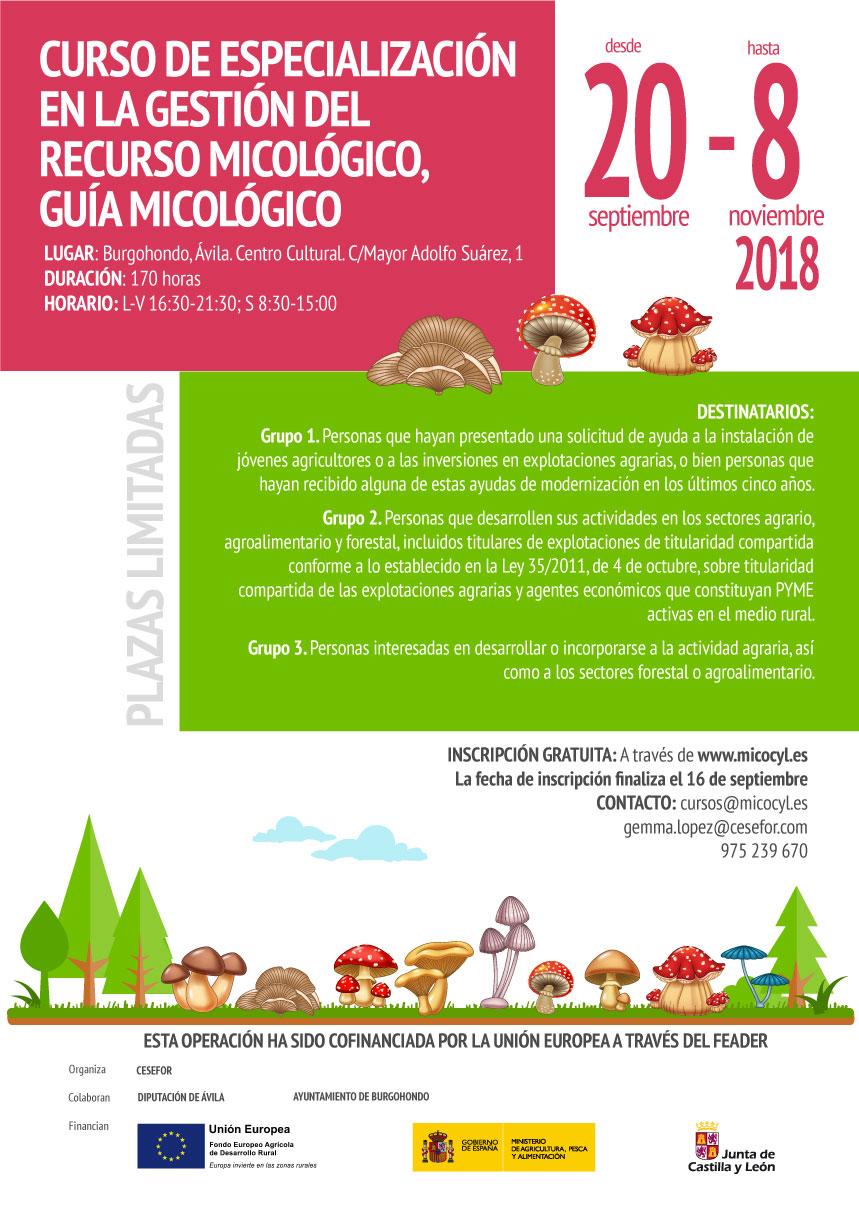 CURSO DE ESPECIALIZACIÓN EN LA GESTIÓN DEL RECURSO MICOLÓGICO, GUÍA MICOLÓGICO @ Centro Cultural
