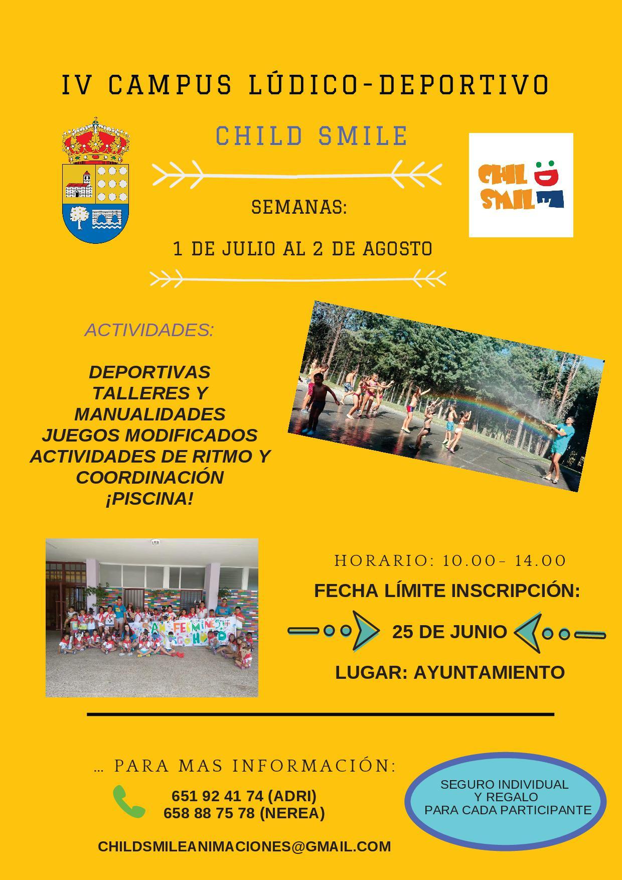 CAMPUS LÚDICO-DEPORTIVO CHILD SMILE 2019