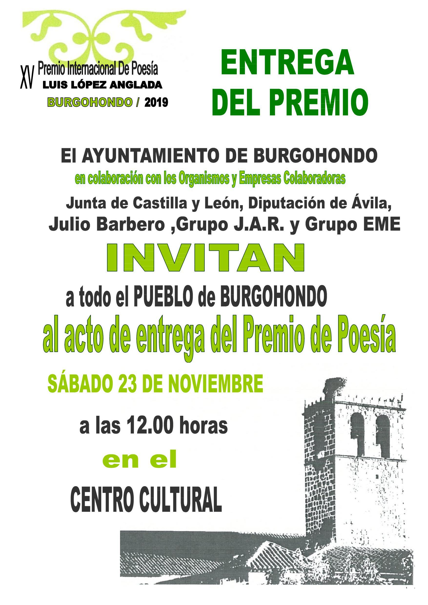 ENTREGA DEL XV PREMIO INTERNACIONAL DE POESÍA