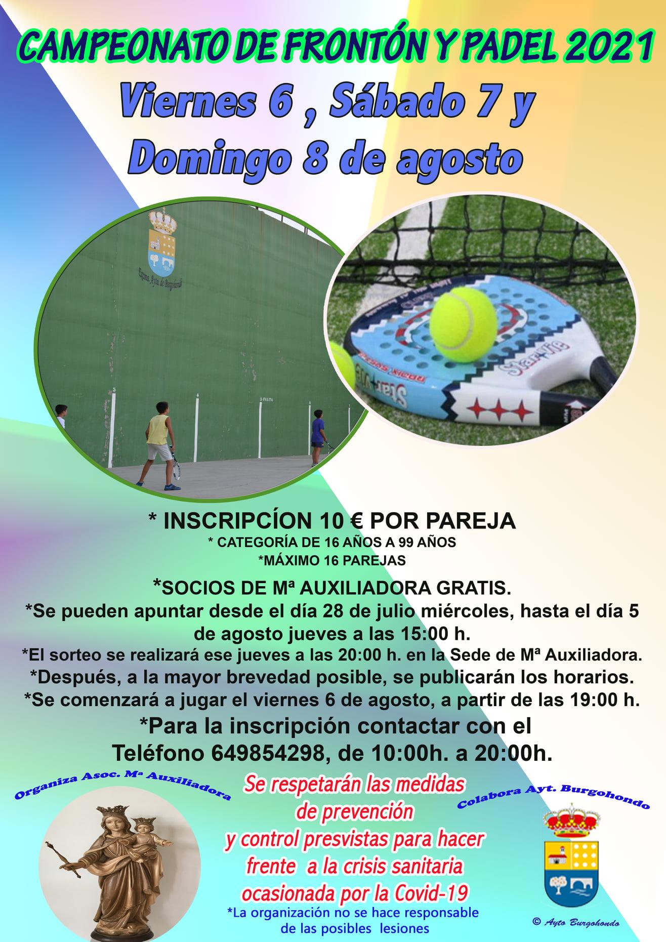 II CAMPEONATO DE FRONTÓN Y PÁDEL